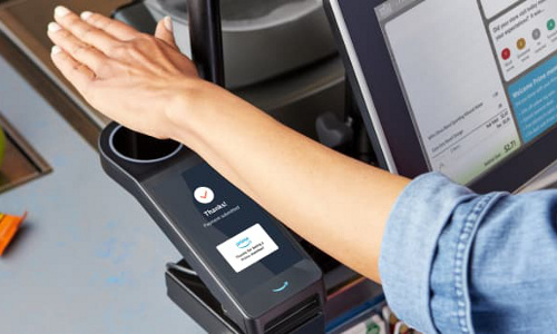 Amazon's palm-scanning payment system.